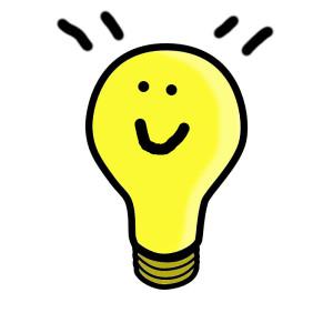 light bulb smile